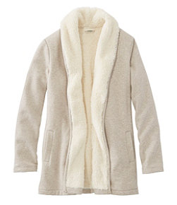 Sherpa-Lined Cozy Cardigan