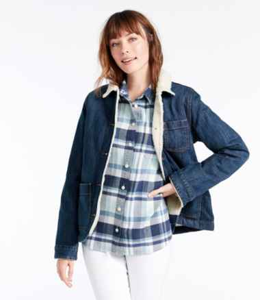 Women's 1912 Jean Chore Jacket, Sherpa-Lined