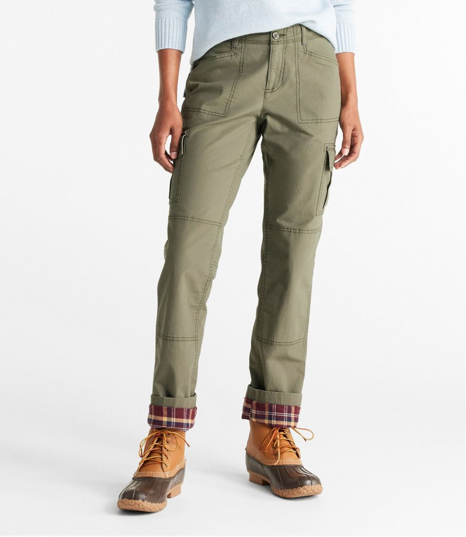 Women S Stretch Canvas Cargo Pants Lined