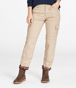 Stretch Canvas Cargo Pants, Lined
