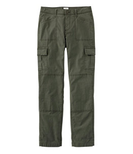 Women's Stretch Canvas Cargo Pants, Lined