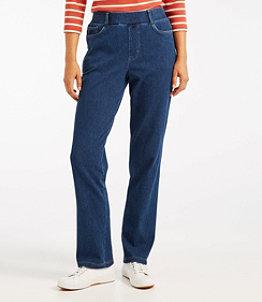 Women's Perfect Fit Pants, Five-Pocket Slim Denim