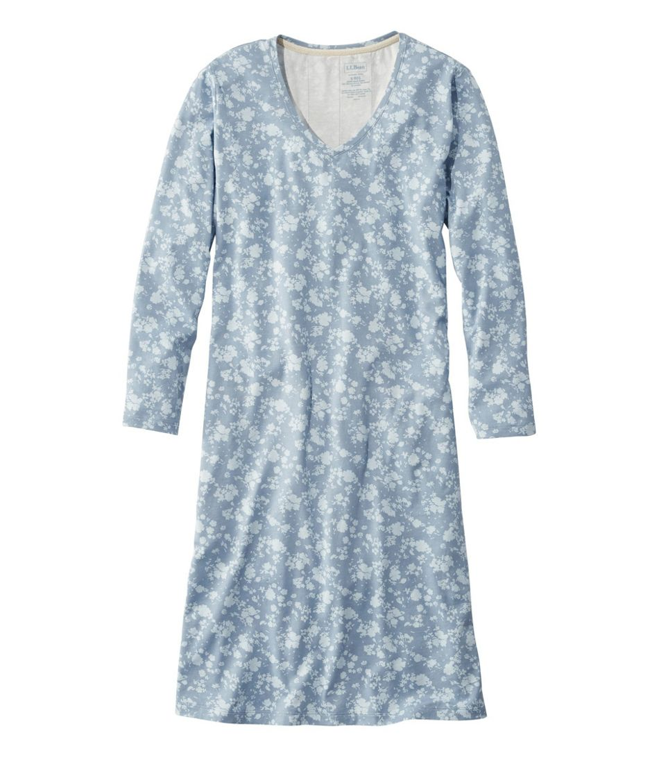 Women's Supersoft Shrink-Free Nightgown, Print