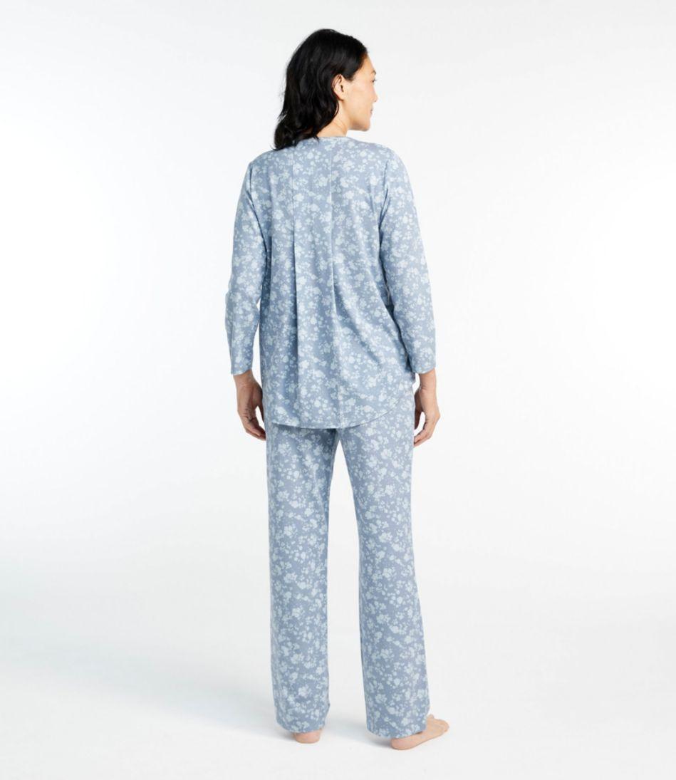 Organic Supersoft Shrink-Free Pajama Set, Print