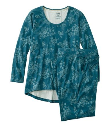 Organic Supersoft Shrink-Free Pajama Set, Print