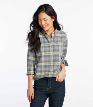 Women's Lakewashed® Organic Cotton Oxford Shirt, Plaid