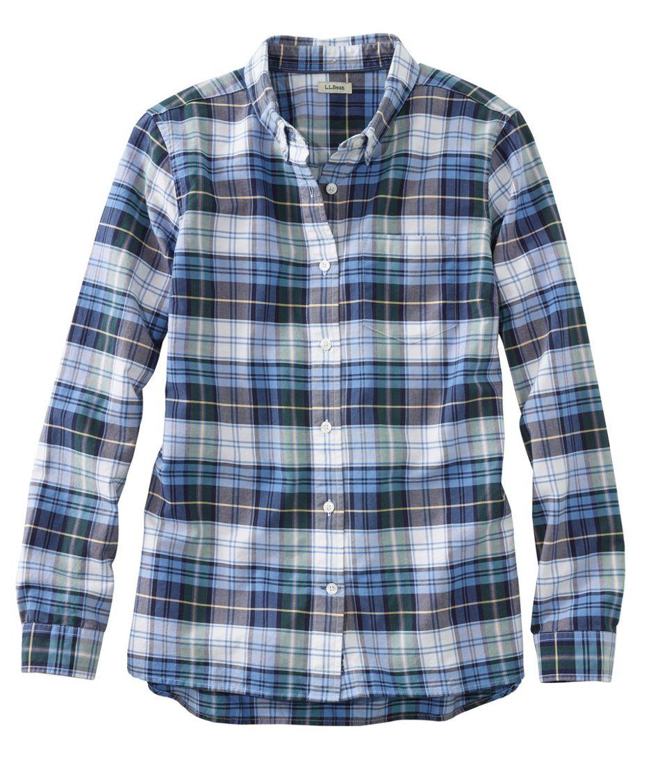 Women's Lakewashed® Organic Cotton Oxford Shirt, Plaid