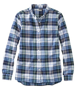 Lakewashed Organic Cotton Oxford Shirt, Plaid