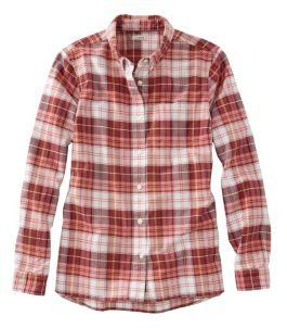 Women's Lakewashed Organic Cotton Oxford Shirt, Plaid