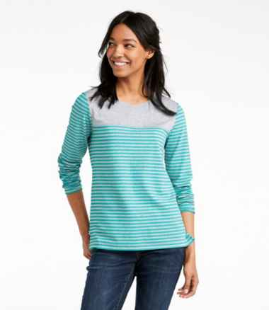 Women's Super-Soft Shrink-Free Tee, Long-Sleeve Crewneck Print