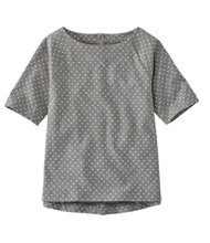 L.L.Bean Tee, Button-Back Print