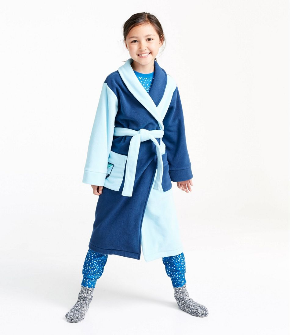 Kids' Fleece Robe, Colorblock