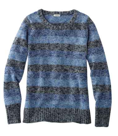 Cotton Ragg Sweater, Marled Stripe
