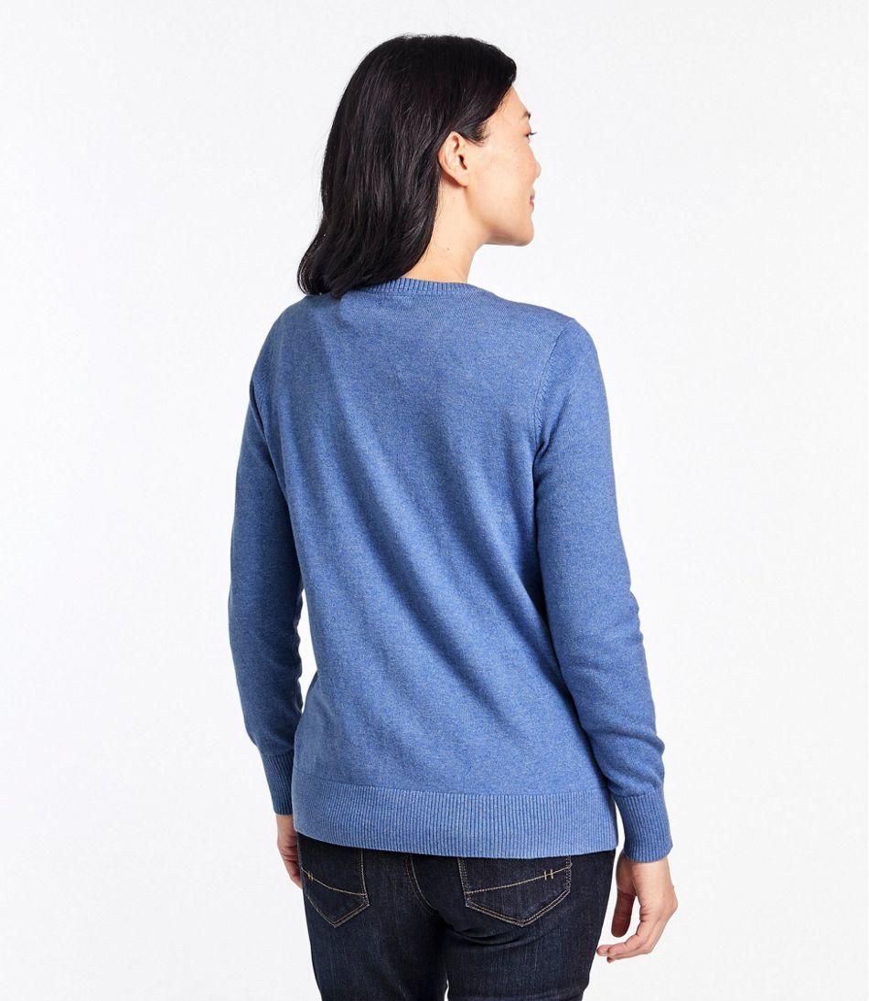 Women's Cotton/Cashmere Cardigan, Button-Front