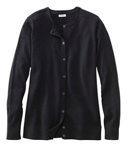 Women's Cotton/Cashmere Cardigan, Button-Front