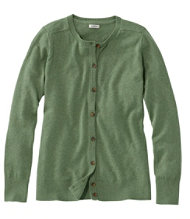 Cotton/Cashmere Cardigan, Button-Front