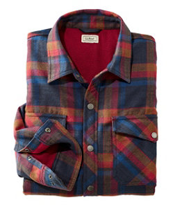 Men's Overland Performance Flannel Shirt, Fleece Lined