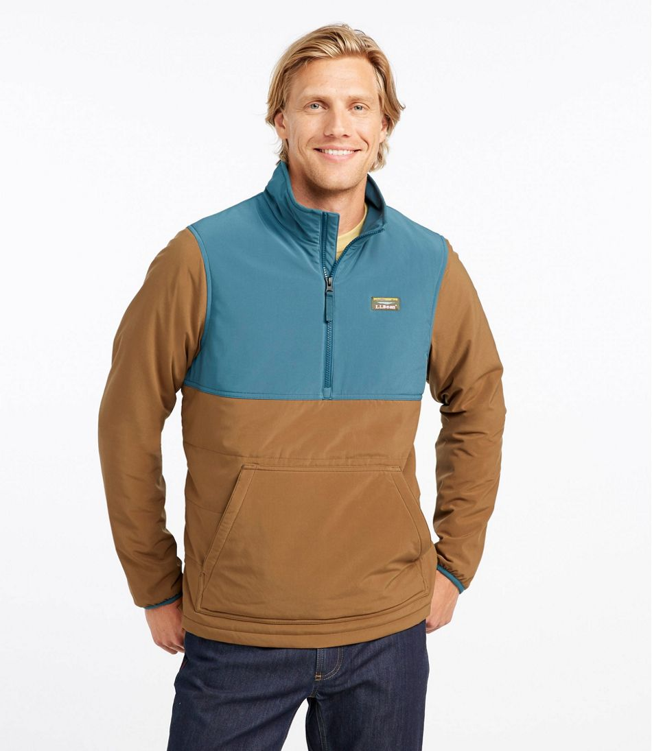 Insulated Stretch Pullover, Colorblock