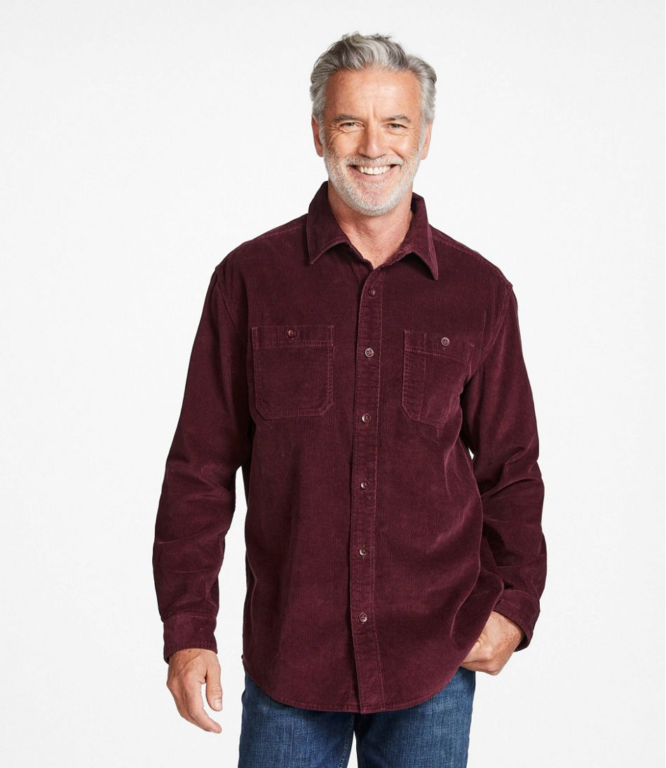 Men's Lakewashed® Corduroy Shirt, Traditional Fit Long-Sleeve