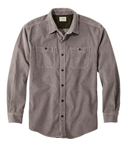 Men's Lakewashed Corduroy Shirt, Traditional Fit Long-Sleeve