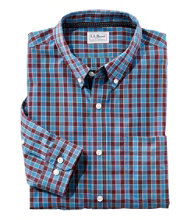 Wrinkle Free Brushed Cotton Sportshirt, Traditional Fit Long-Sleeve Plaid