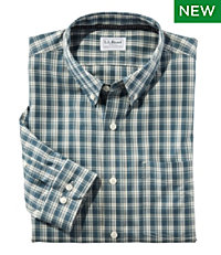 Wrinkle Free Brushed Cotton Sportshirt, Slightly Fitted Long-Sleeve Plaid
