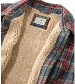 Men's Sherpa-Lined Scotch Plaid Shirt, Slightly Fitted