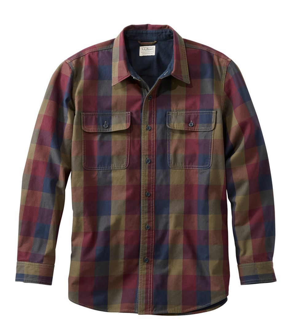 Lined Hurricane Shirt, Traditional Fit Plaid