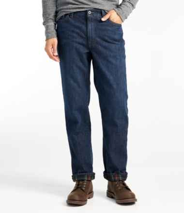Men's L.L.Bean 1912 Jeans, Classic Fit, Flannel-Lined