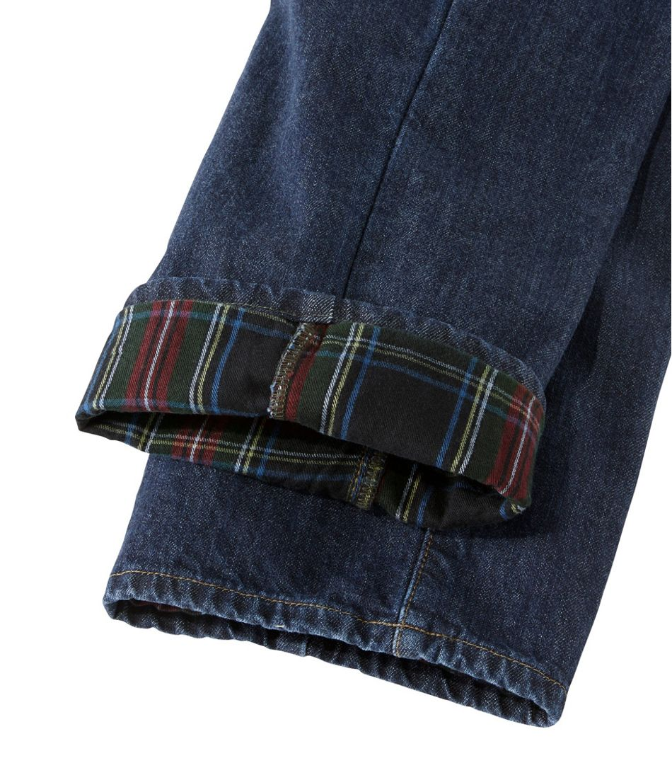 L.L.Bean 1912 Jeans, Classic Fit Flannel-Lined