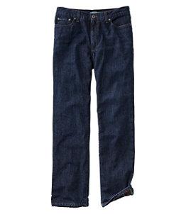Men's L.L.Bean 1912 Jeans, Classic Fit, Flannel-Lined