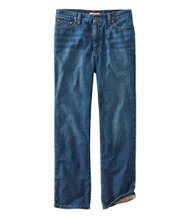 Bean's 1912 Flannel Lined Jeans Classic Fit Men's