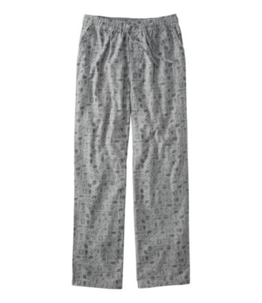 L.L.Bean Flannel Sleep Pants, Print