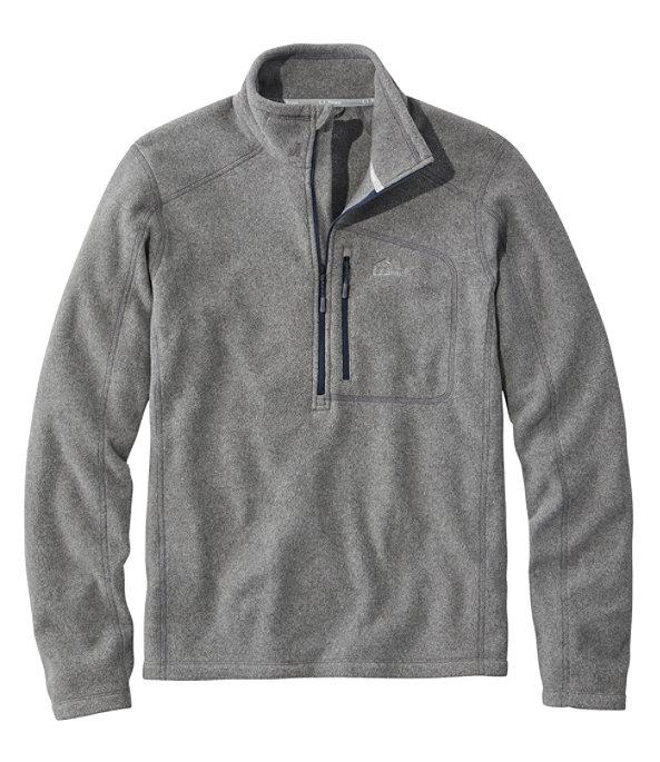 Men's Trail Fleece Quarter-Zip Pullover, Gray Heather/Nautical Navy, large image number 0