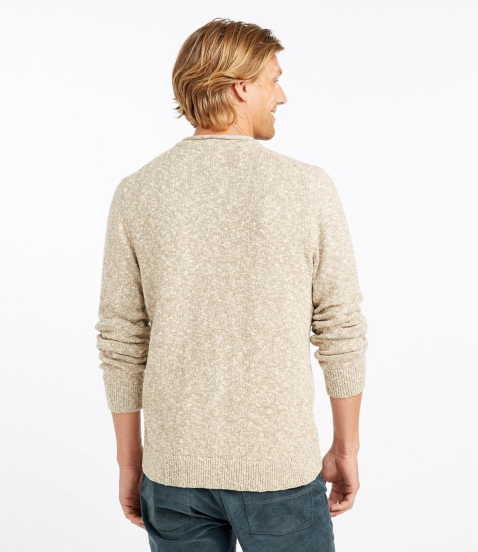 Cotton Ragg Sweater, Rollneck Henley, Slightly Fitted