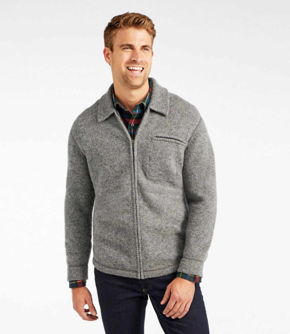 Vintage Shetland Wool Sweater, Full Zip