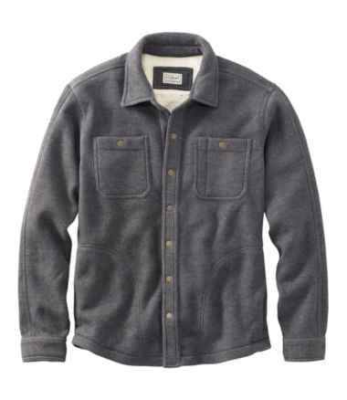 Men's Katahdin Iron Works Bonded Waffle Fleece, Shirt Jac