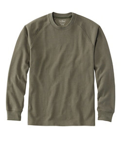 Men's Unshrinkable Mini Waffle Crewneck Shirt