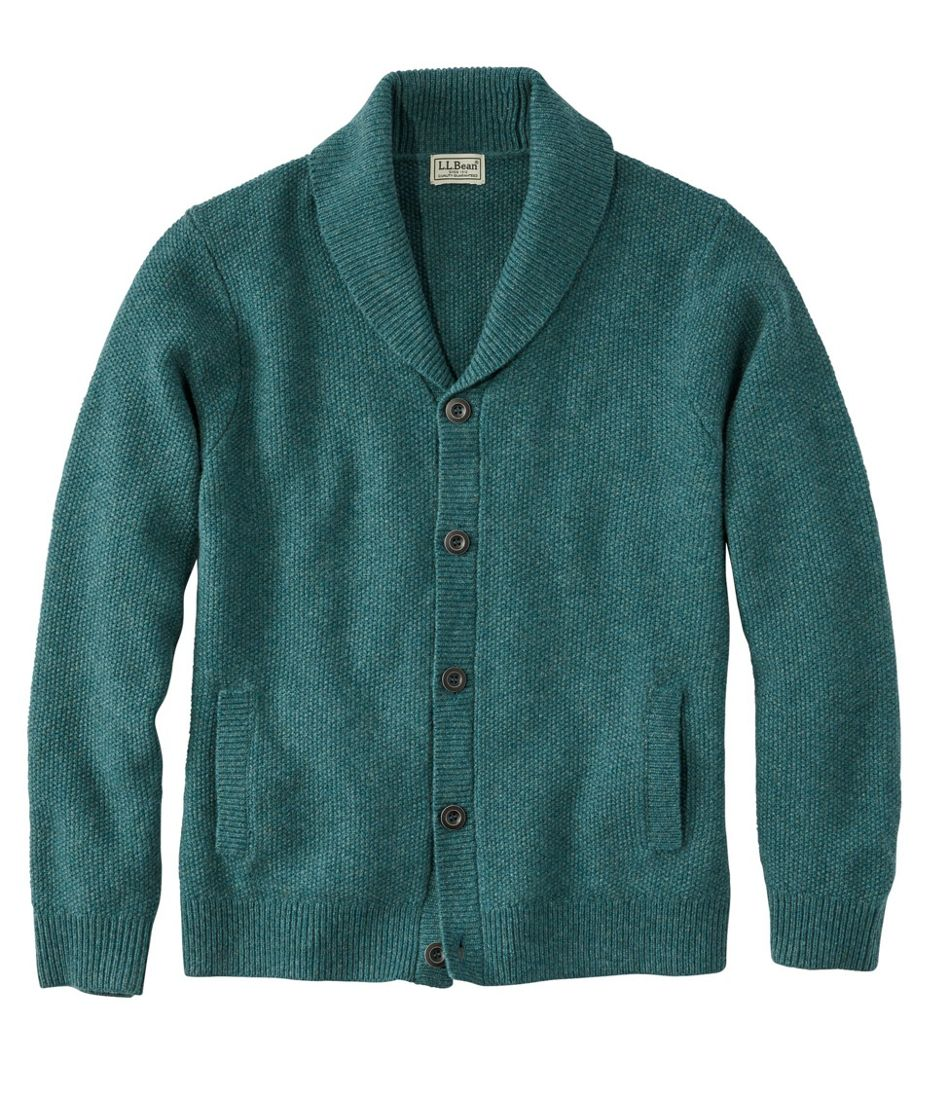 Washable Lambswool Sweaters, Seed Stitch Cardigan