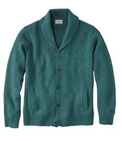 Men's Washable Lambswool Sweaters, Seed Stitch Cardigan