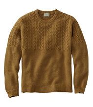 Washable Lambswool Sweaters, Mixed Stitch Crewneck