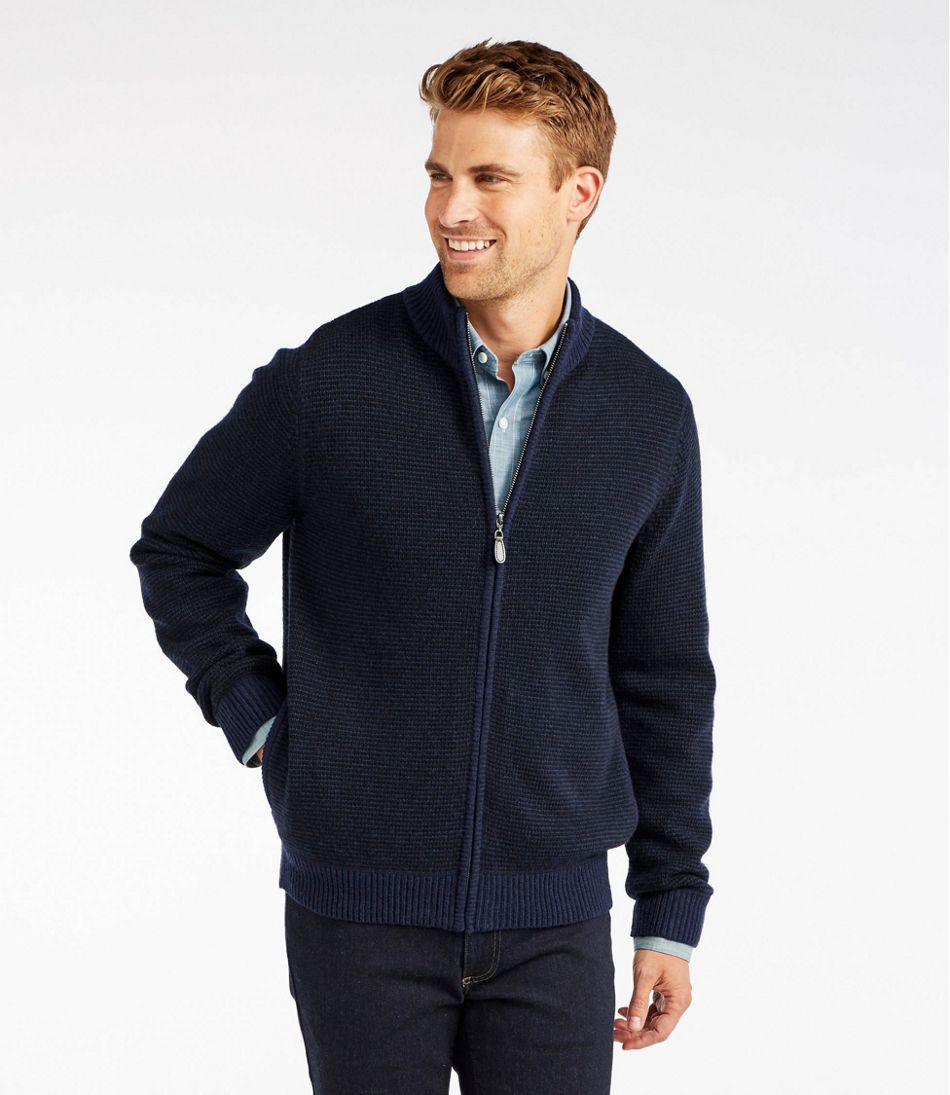 Washable Merino Wool Sweater, Full Zip