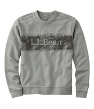Bean's Essential Crewneck Sweatshirt, Graphic Camo Logo