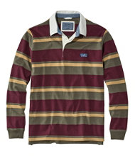 Men's Lakewashed Rugby, Traditional Fit Long-Sleeve Shadow Stripe