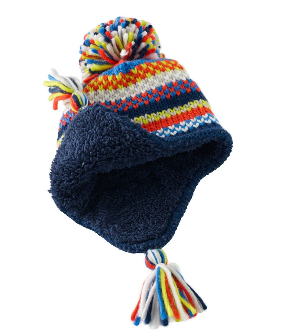 Toddlers' Peruvian Pom Hat, Stripe