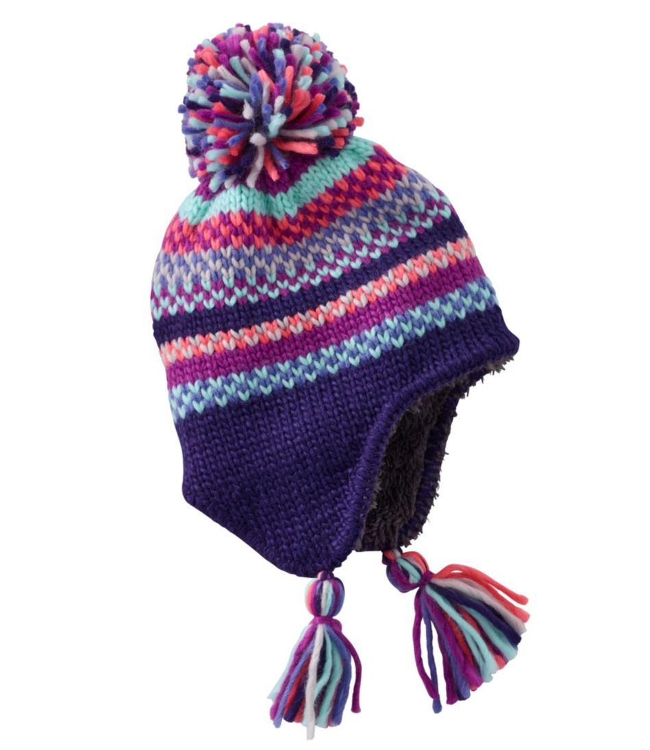 Toddlers' Peruvian Pom Hat, Stripe
