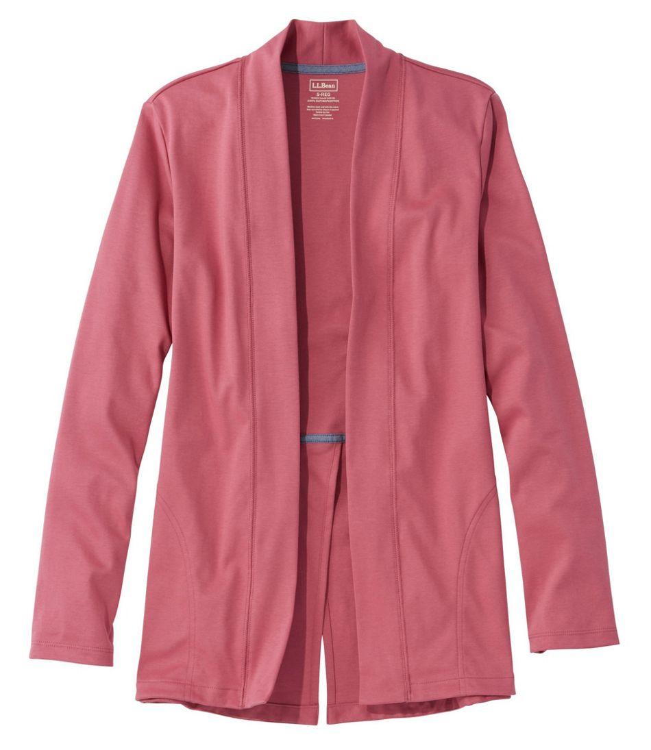 Pima Cotton Open Cardigan, Split-Back