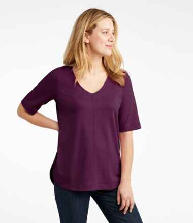 Pima Cotton Tee, V-Neck Tunic