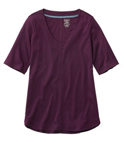 Women's Pima Cotton Tee, V-Neck Tunic