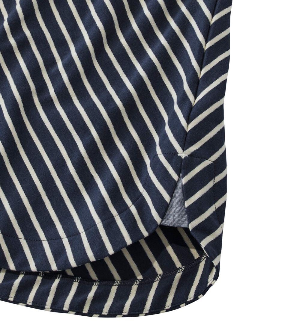 Pima Cotton Tee, V-Neck Tunic Stripe